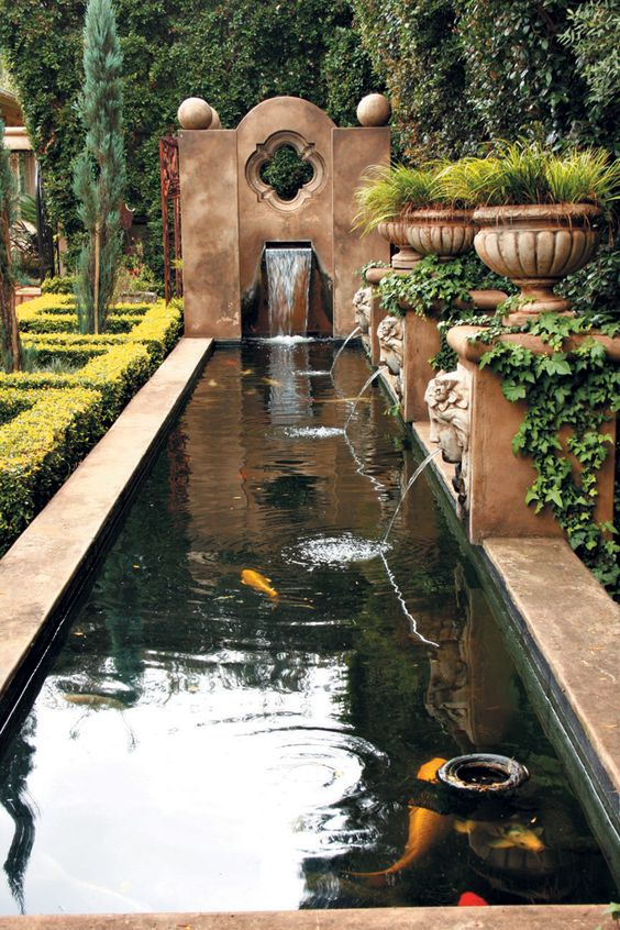 Canal water features botanica for Koi pond return jets
